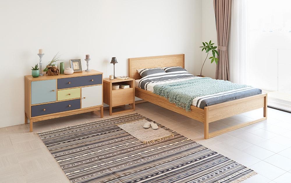 ベッドームのコーディネート例