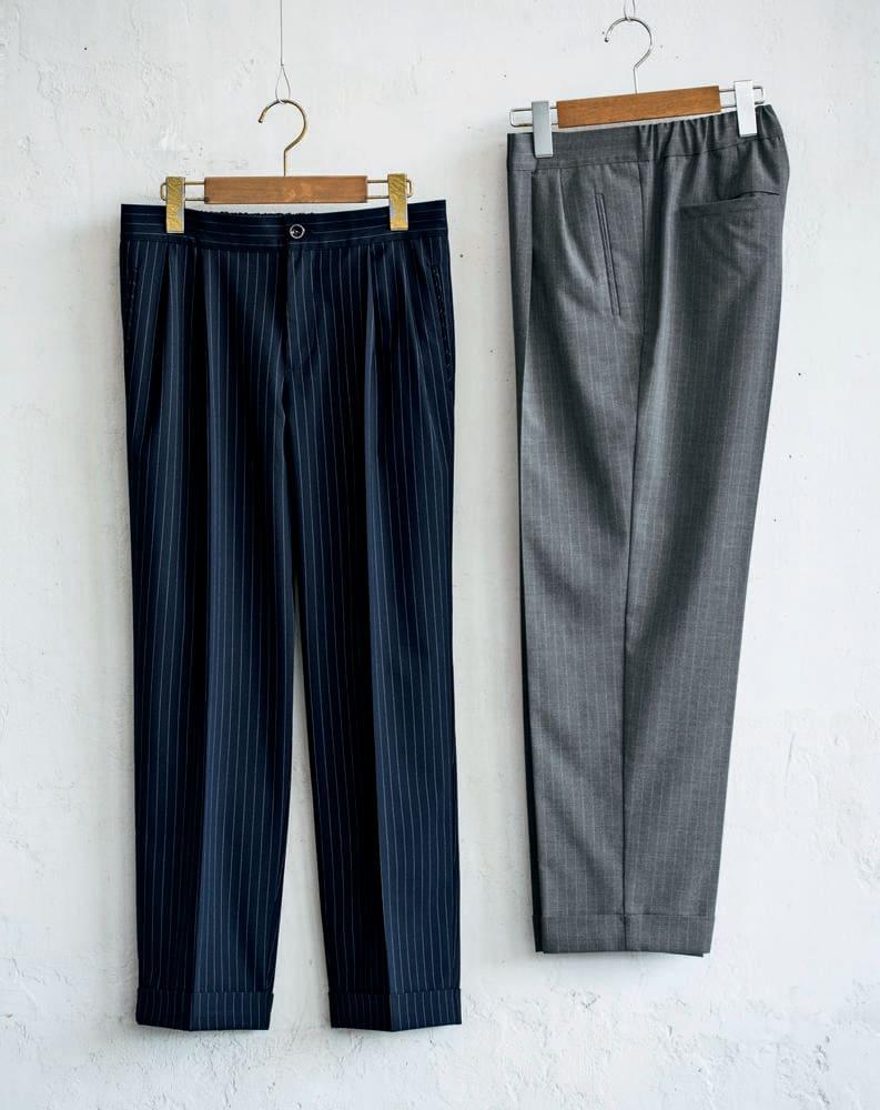 <span class=ffam1>パンツスーツは避ける、もしくはパンツ選びが重要</span>
