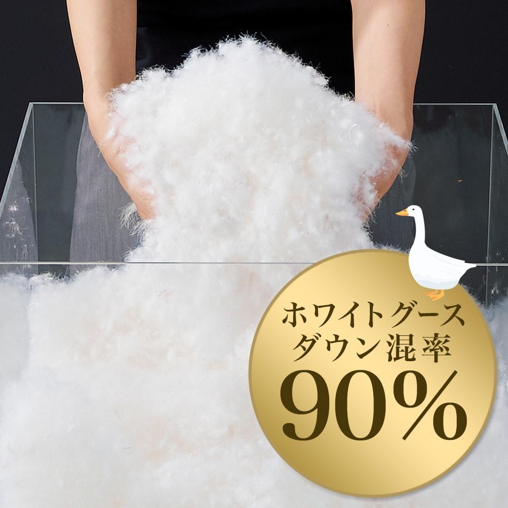 足し羽毛 ホワイトグースダウン混率90%