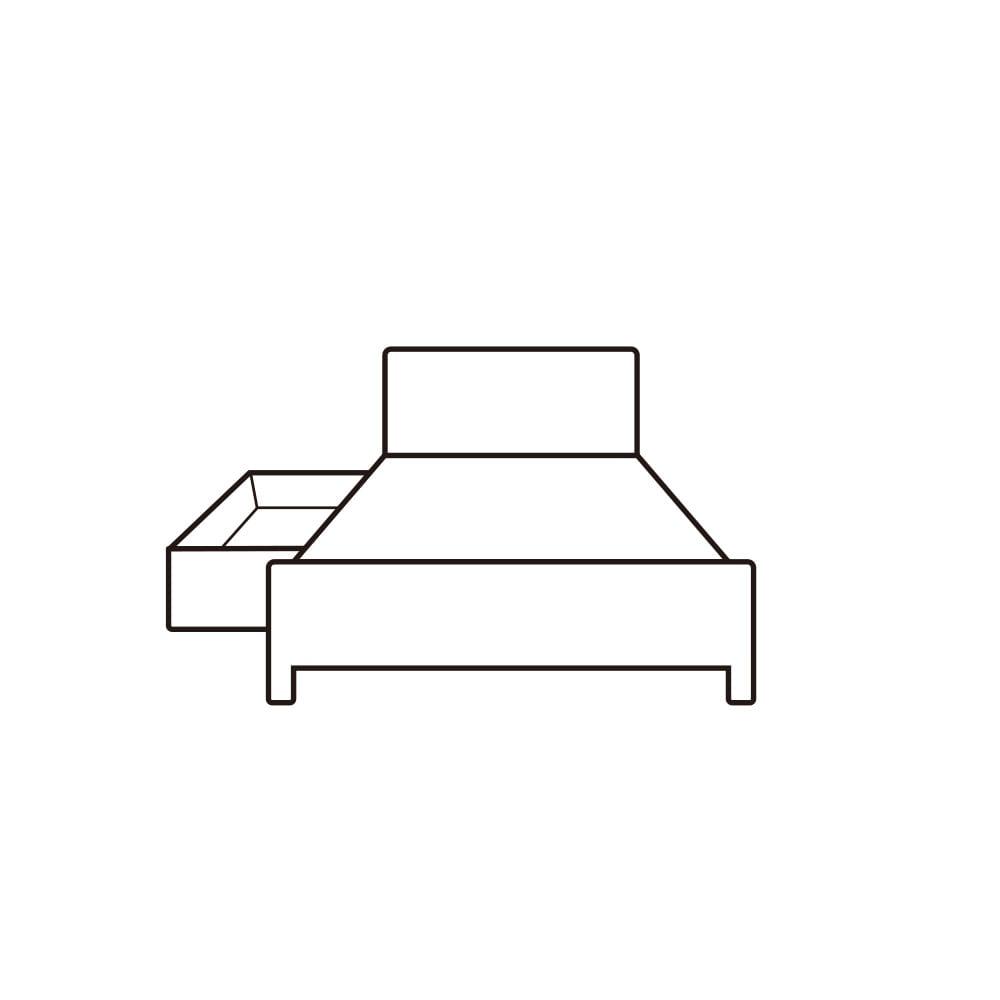引き出し収納付きベッド