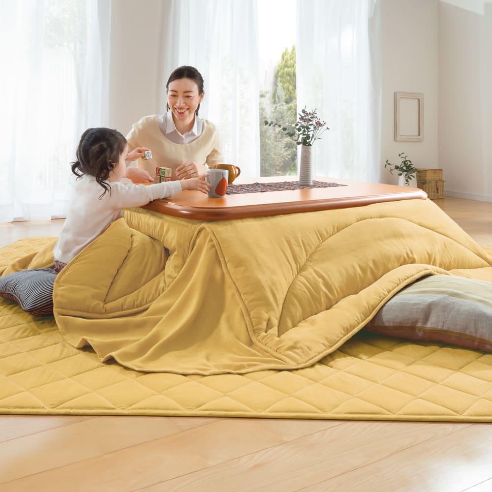 【正方形】190×190cm ふっくら贅沢ボリューム省スペースこたつ掛け布団
