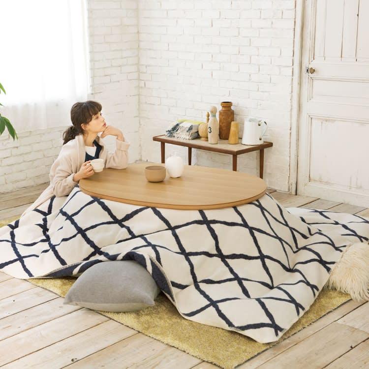 【3長方形】190×230cm こたつ掛け毛布(ウール・コットン)