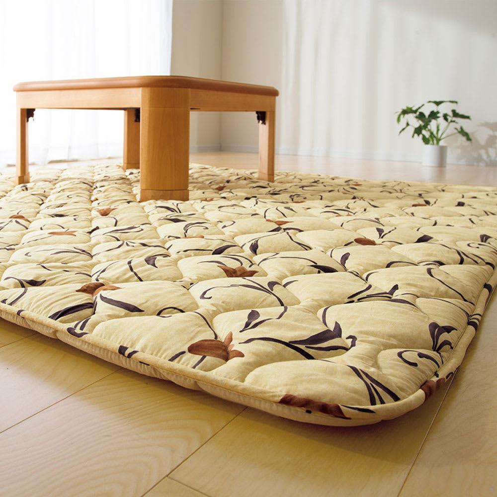 正方形(京都西川 はっ水 ふっくらこたつシリーズ こたつ敷き(厚さ約4cm))