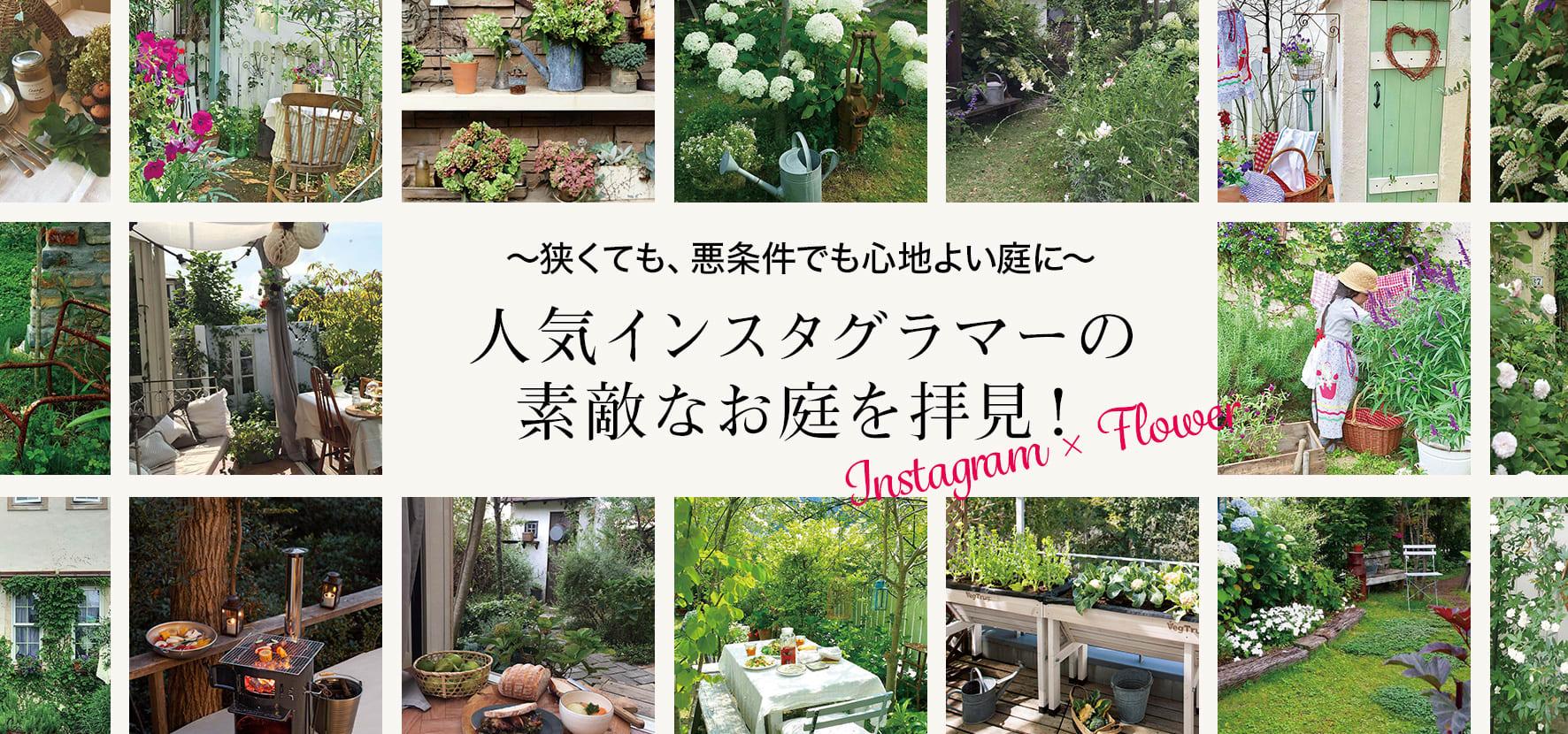 草花が身近にある、豊かな暮らしぶりが人気のインスタグラマーに、インスタグラムでは語りきれない庭づくりへのこだわりを、お庭の写真とともに教えてもらいました。