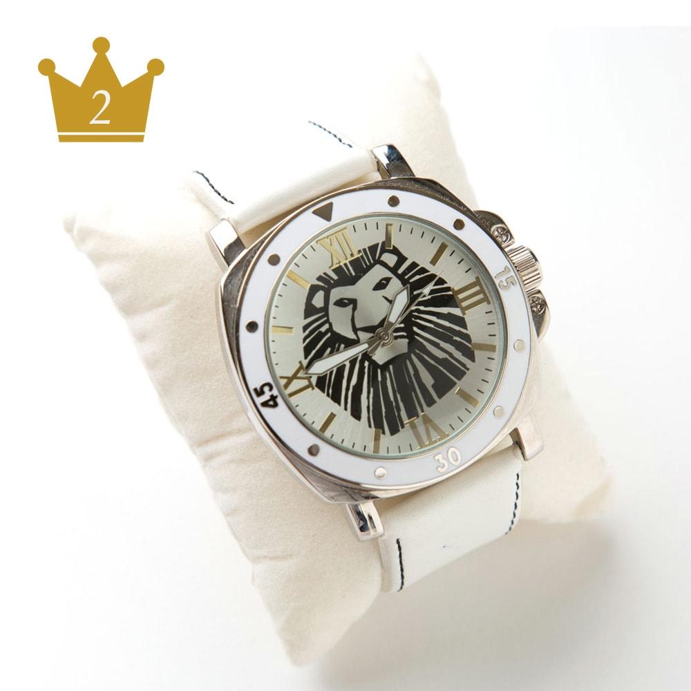 ライオンキング/リストウォッチ 白(男女兼用) ディズニー ミュージカル 腕時計