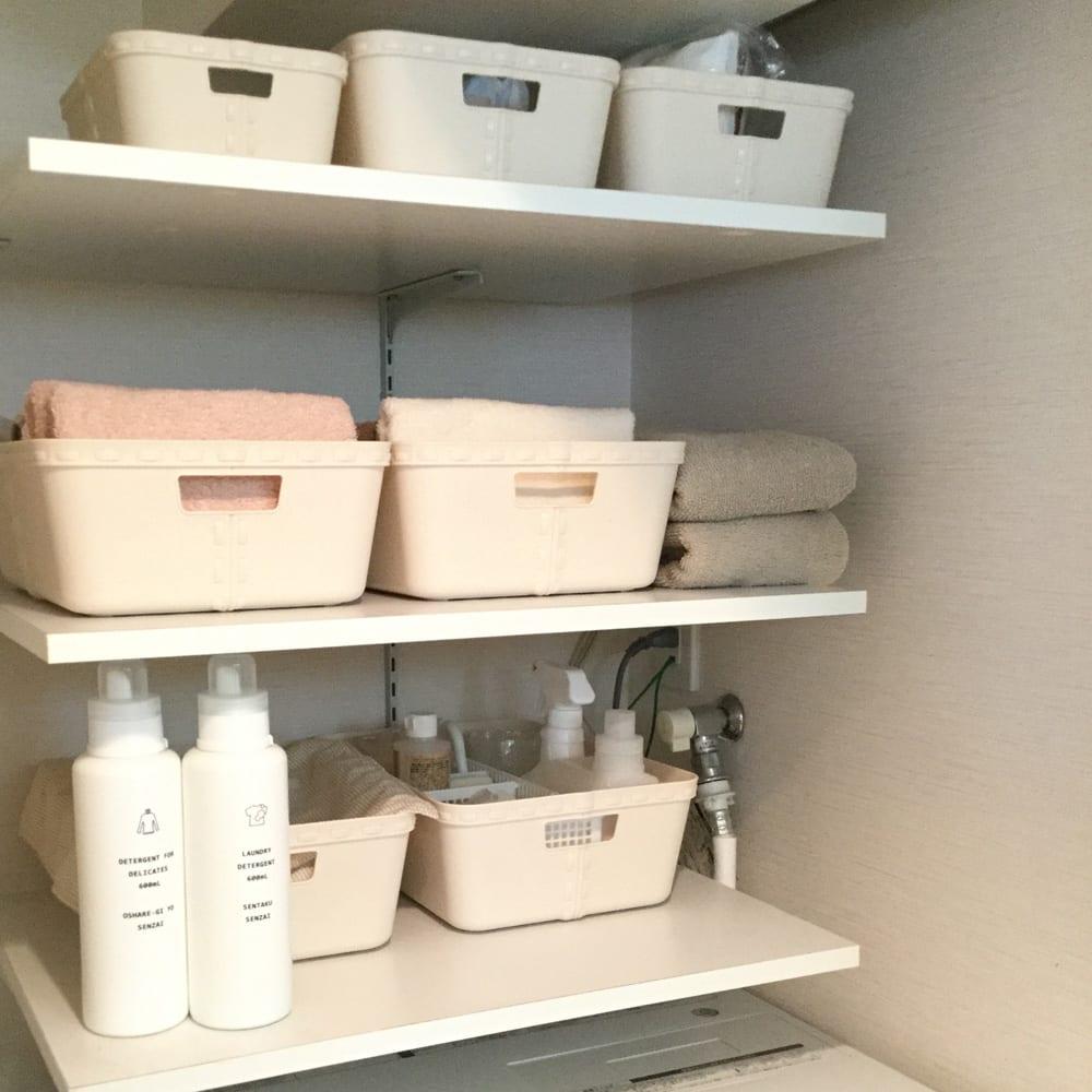 洗面所をスッキリ、きれい、快適に保つモノの分け方と収納法
