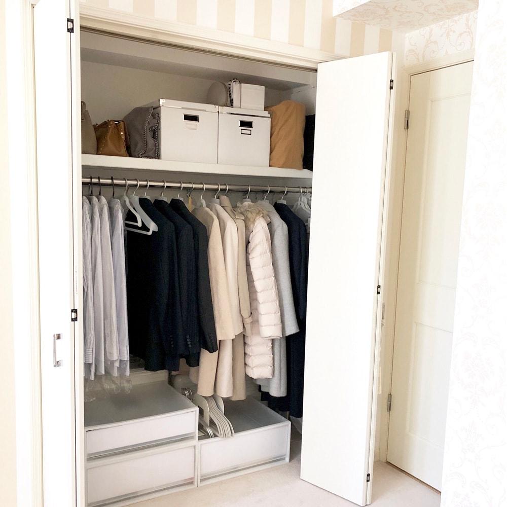 奥行きのあるクローゼットや押入れの収納力を活かす衣類収納3つのコツ♪