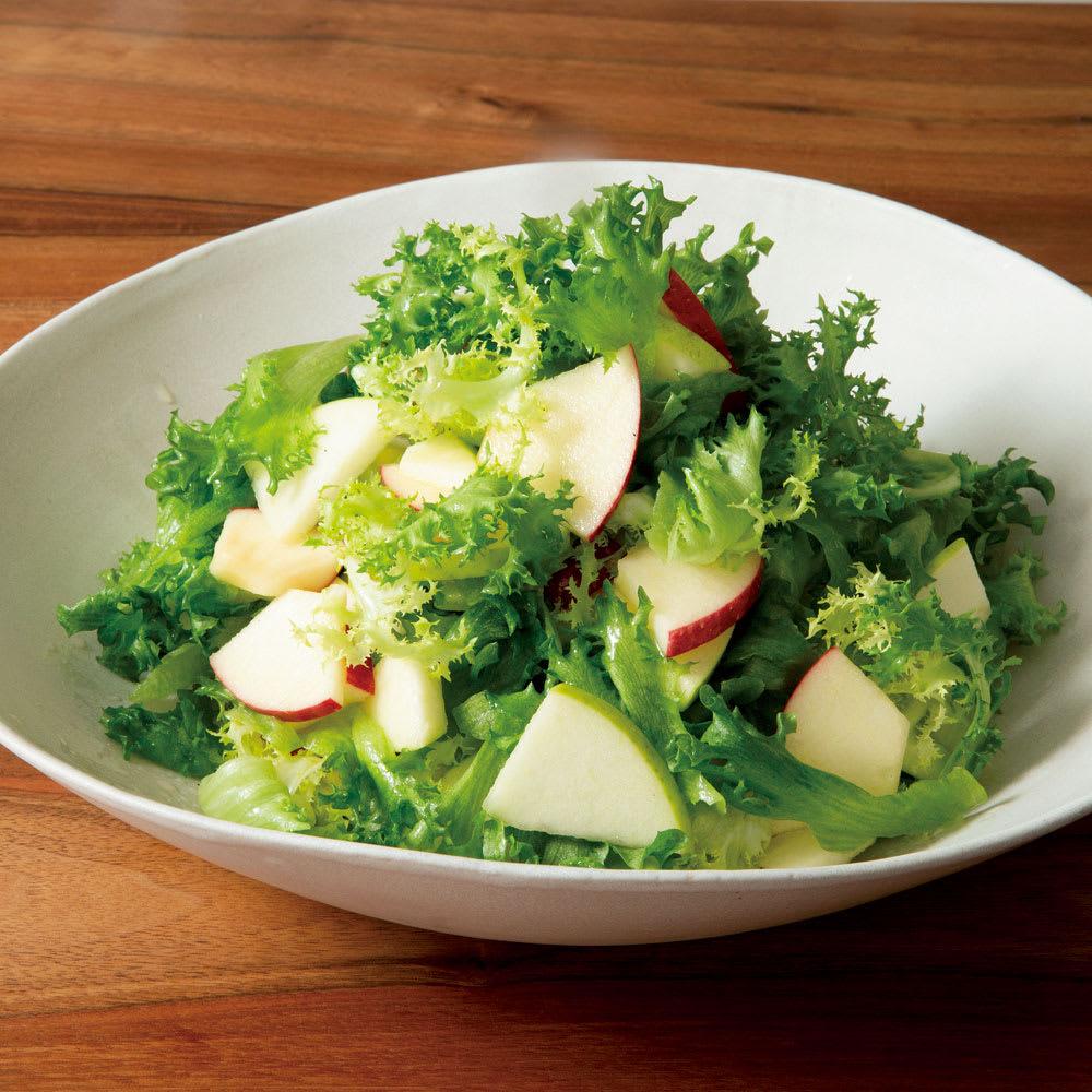 #66 サラダハンドで作るりんごと葉っぱのサラダ