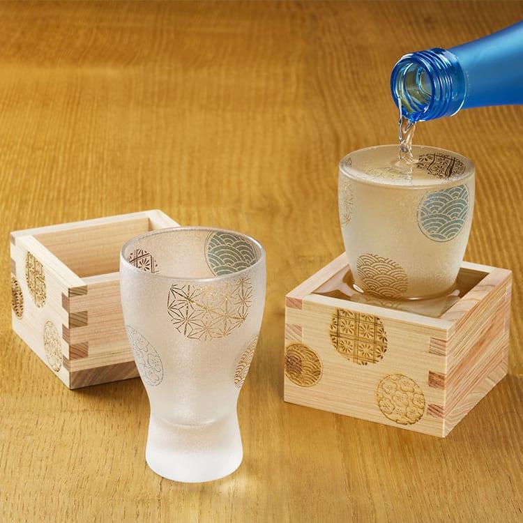プレミアム丸紋酒グラスペアセット