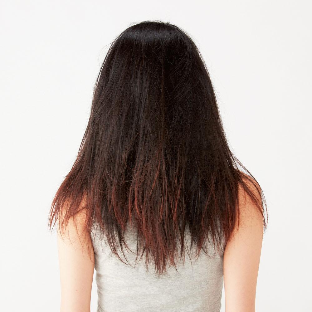 パサついた髪