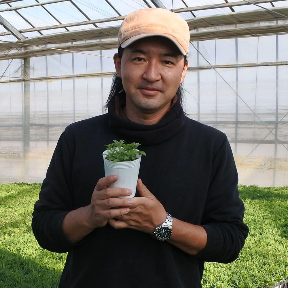 苗の生産者・松原園芸の松原紀嘉(きよし)さんもFacebookグループに参加しています!