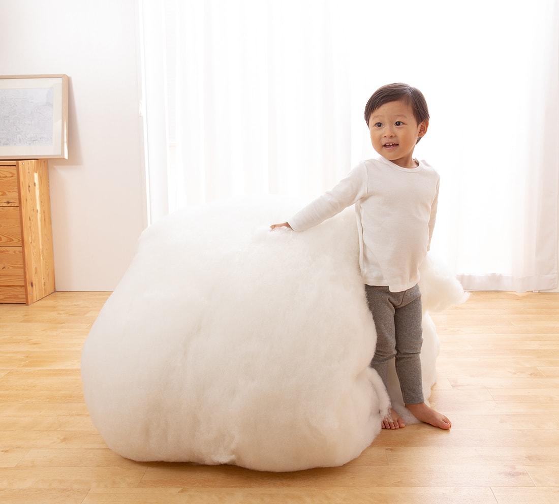 厚さと硬さの理由は綿の量!