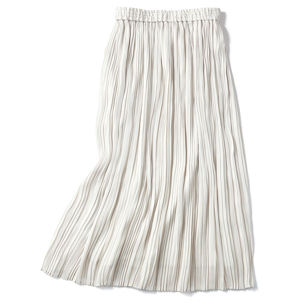 グロッシー素材 ボックスプリーツ ロングスカート