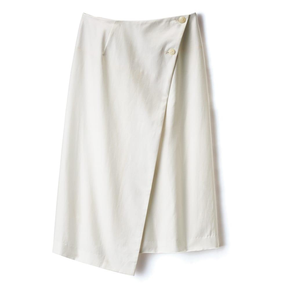 2WAY イレギュラーヘム ラップスカート