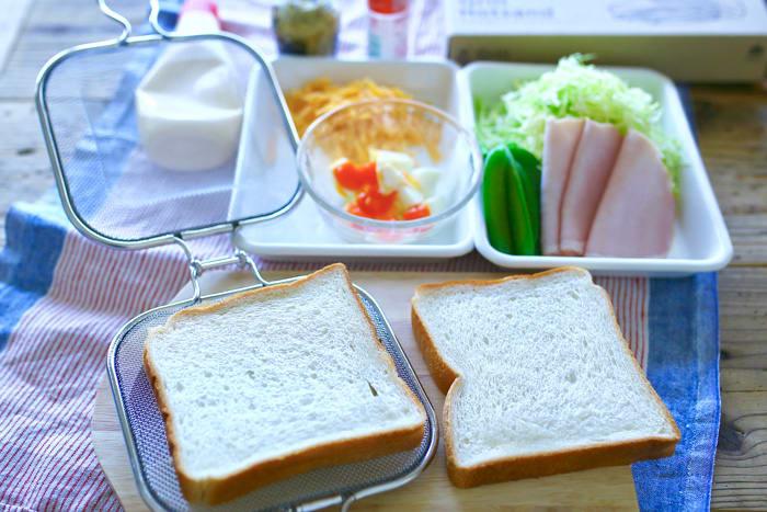 「グリルホットサンドメッシュ」で作る簡単で丁寧な朝ごはん