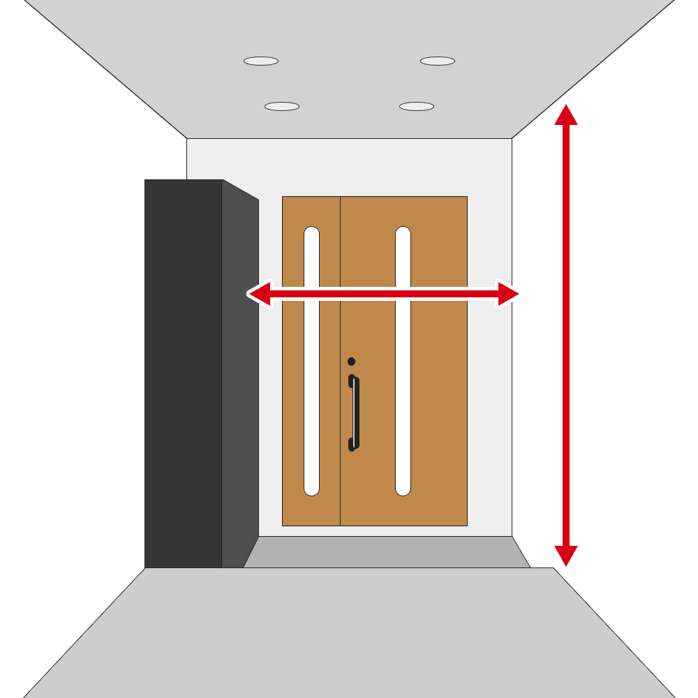 玄関の幅・天井高さを確認