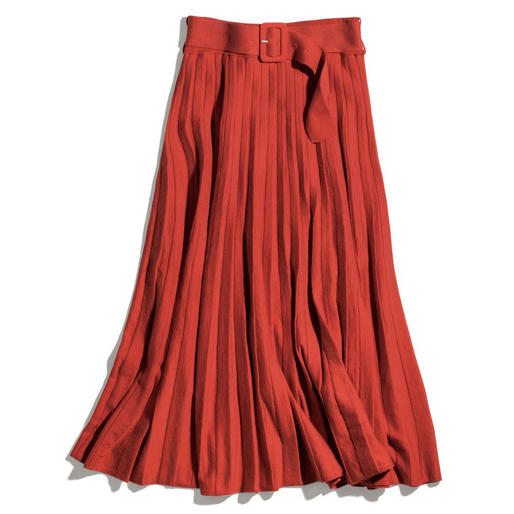 プリーツ風 ニットスカート