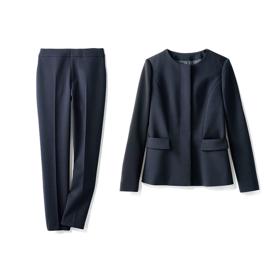 【股下丈63cm】 ストレッチ ダブルクロス スーツセット(ジャケット+パンツ)
