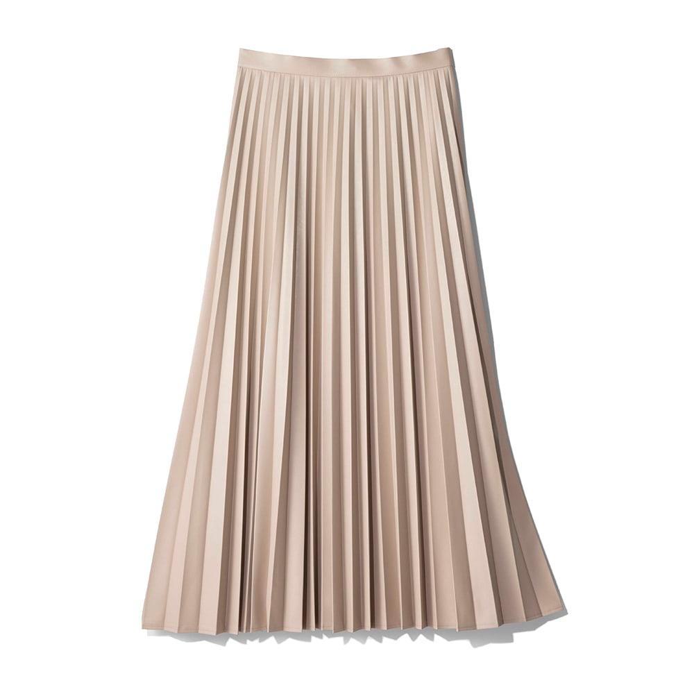 フェイクレザー プリーツ スカート