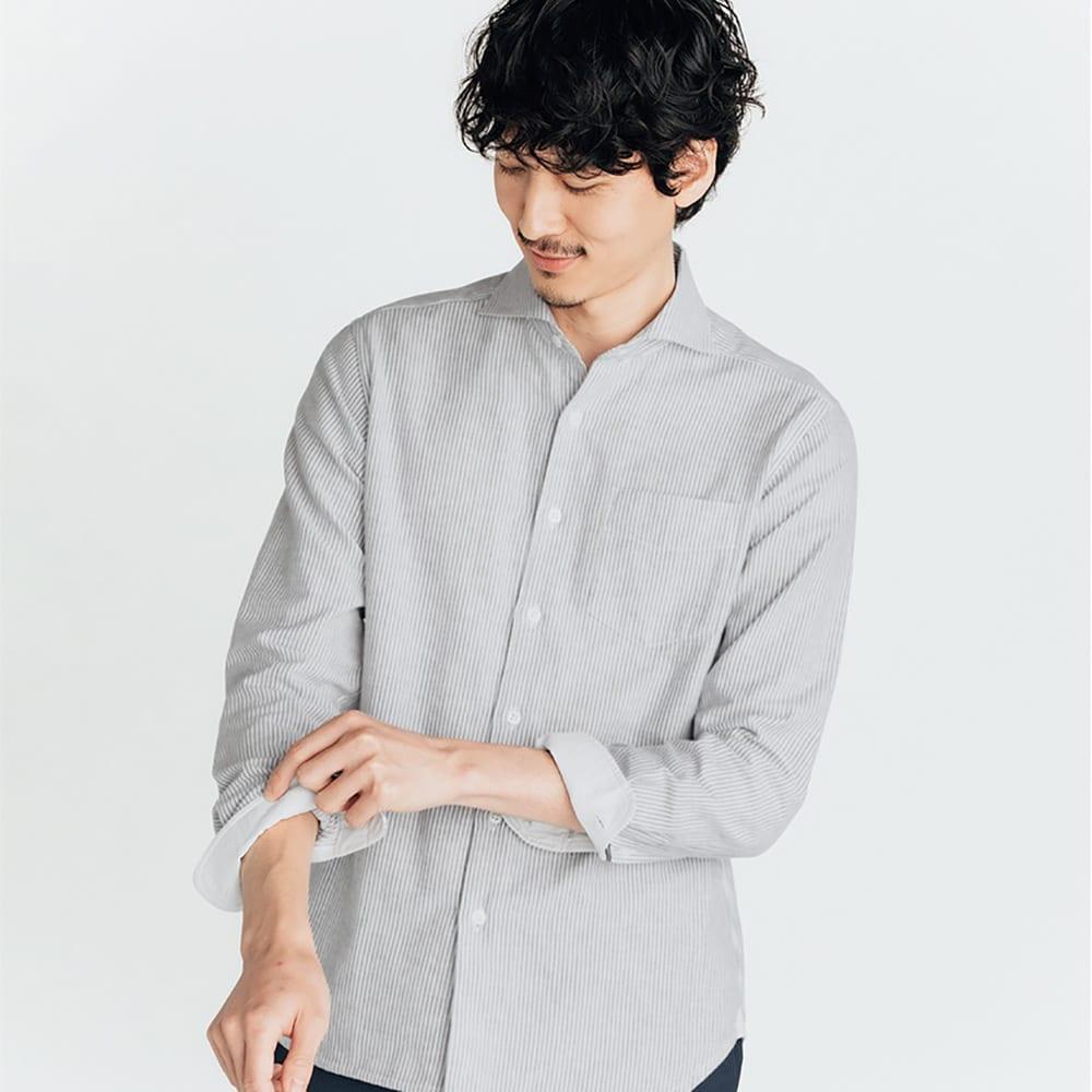 SCENE(R) 今治タオルシャツ<br />素肌に着られる、夏の爽やかな装い