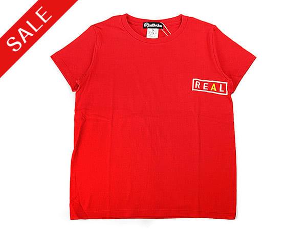 RealBvoice(リアルビーボイス)/フロントREAL&バックBVOICEロゴ レディスTシャツ