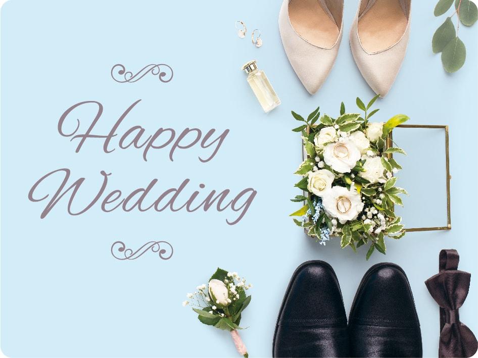 結婚祝いカードがご利用いただけます(有料ラッピングサービス)