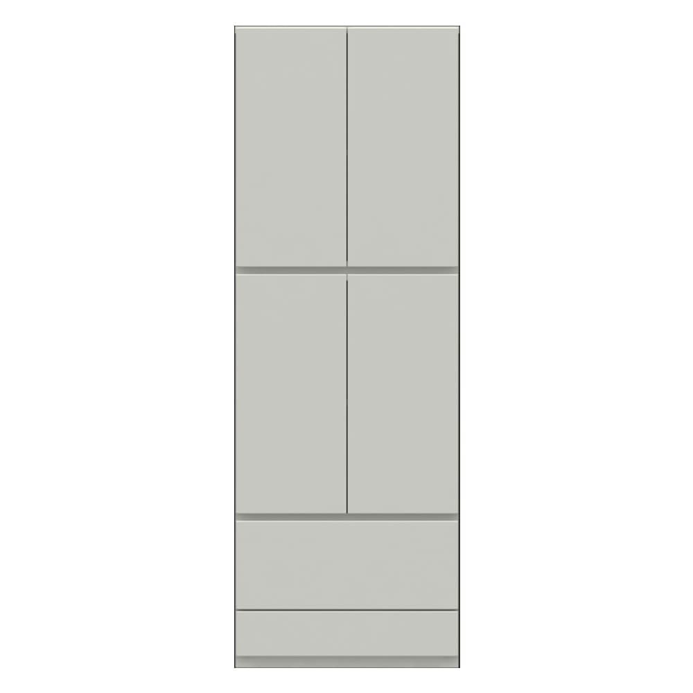 【パモウナ社製】使いやすさを考えた美しいシステム収納 扉+引き出し収納庫 幅60cm