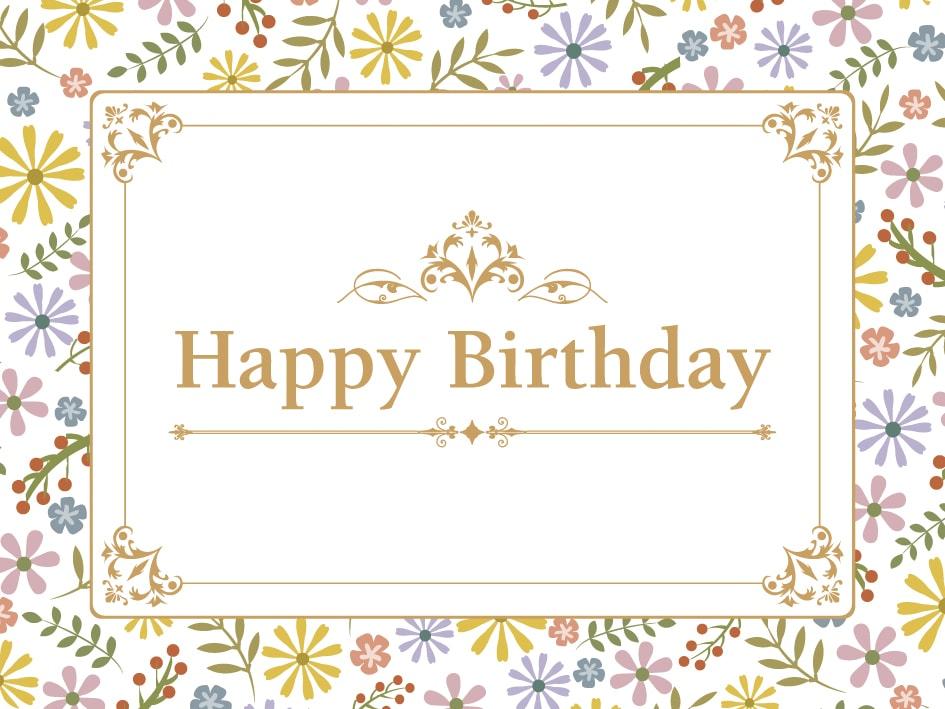 誕生日祝いカードがご利用いただけます(有料ラッピングサービス)