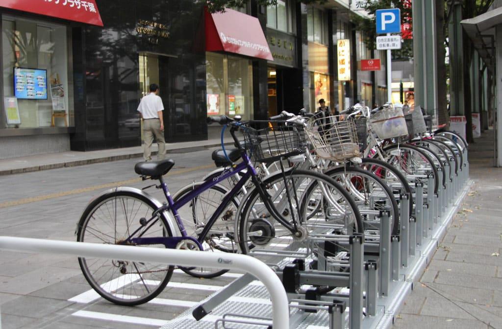 商品名:スロープ付き電動自転車スタンド