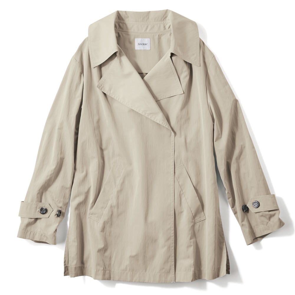 シャンブレーデザインハーフコート