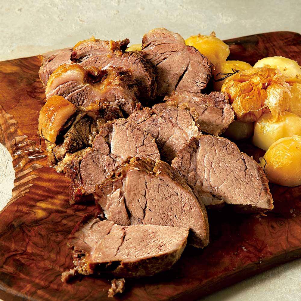 ロースト土鍋で作る豚肩ロースとジャガイモのロースト