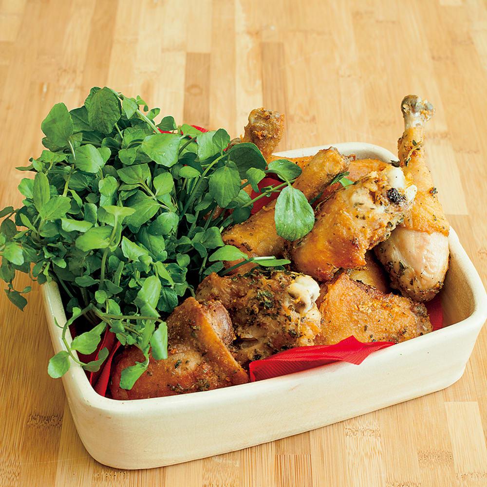 #34 鉄の揚げ鍋で作るフライドチキン タイム・オレガノ風味
