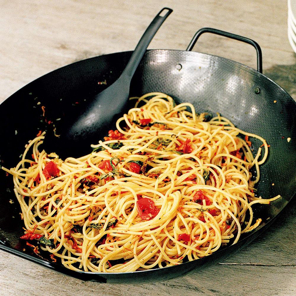#12 鉄のフライパンで作る干し野菜のスパゲッティ