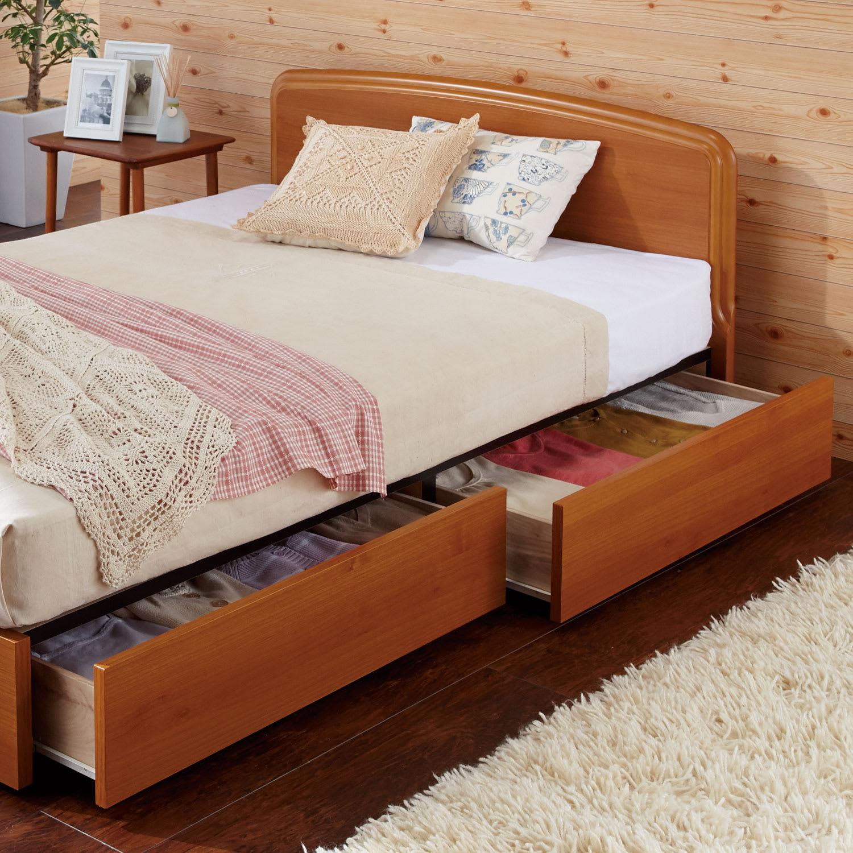 ベッドスペースを生かした収納ベッド