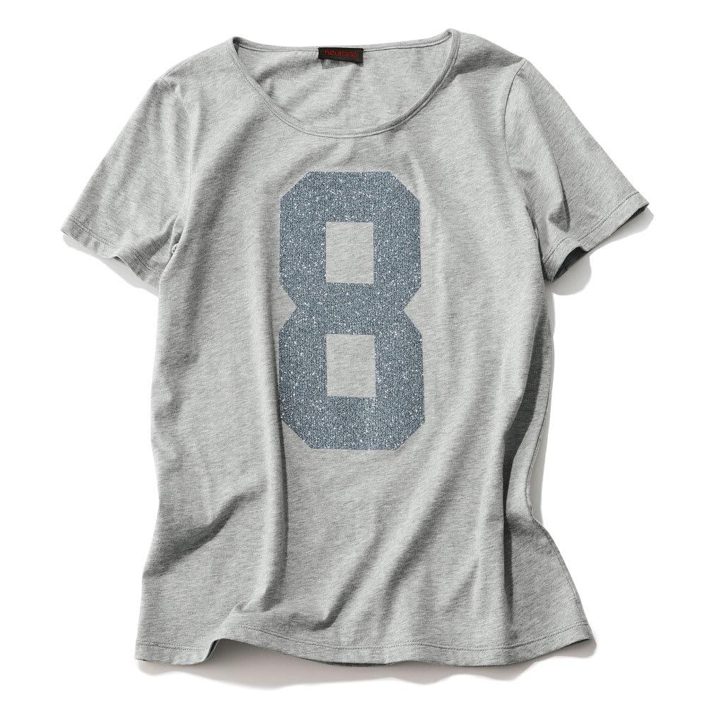 NEURONE/ネウローネ ラメナンバリングTシャツ(イタリア製)