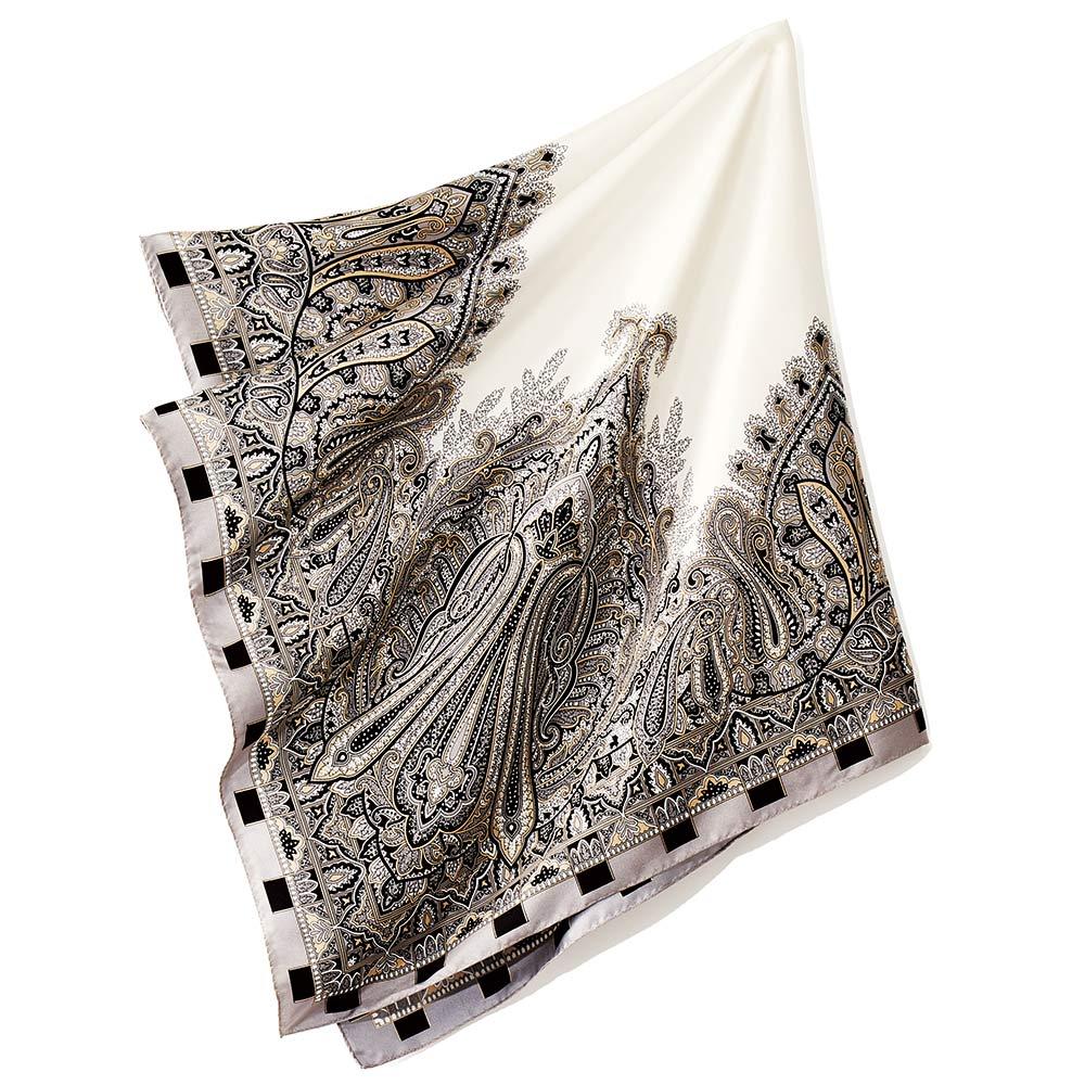 シルクツイル ペイズリー柄 スカーフ