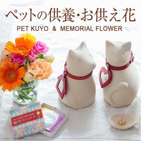 ペットの骨壺・お供え花