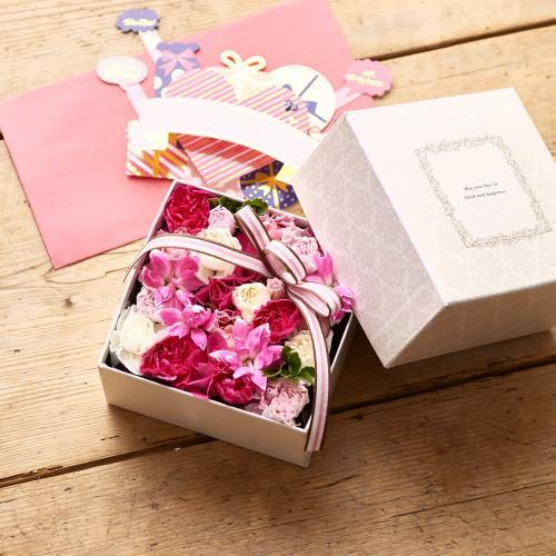 生花BOXアレンジ(ピンク)<br>4,730円(税込)