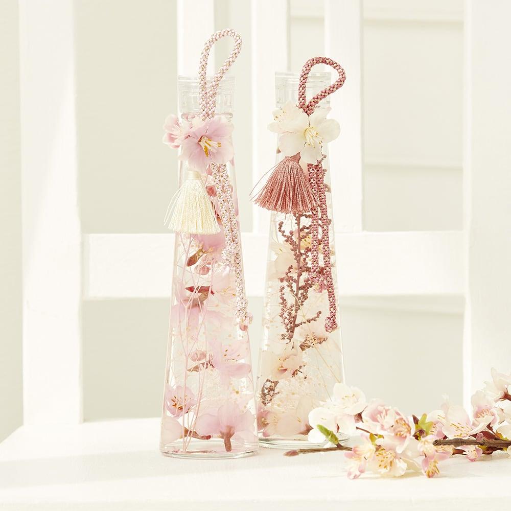 桜のハーバリウム【ピンク&サーモンピンク2個セット】<br>6,050円(税込)