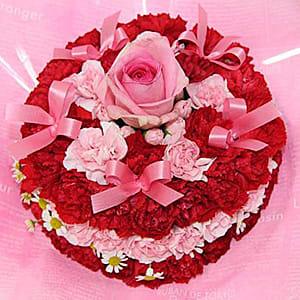 赤とピンクのラブリーケーキ♪<br>6,050円(税込)