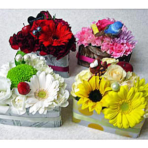 お花のショートケーキ4色セット<br>6,050円(税込)