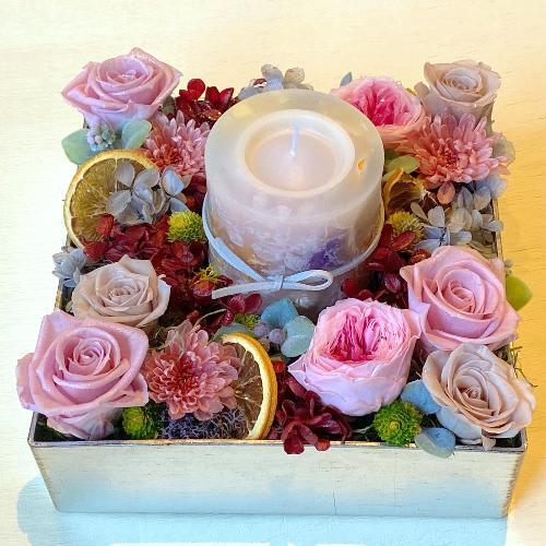 バラのキャンドルBOX「Rose Garden meets Botanical Candle」<br>19,800円(税込)