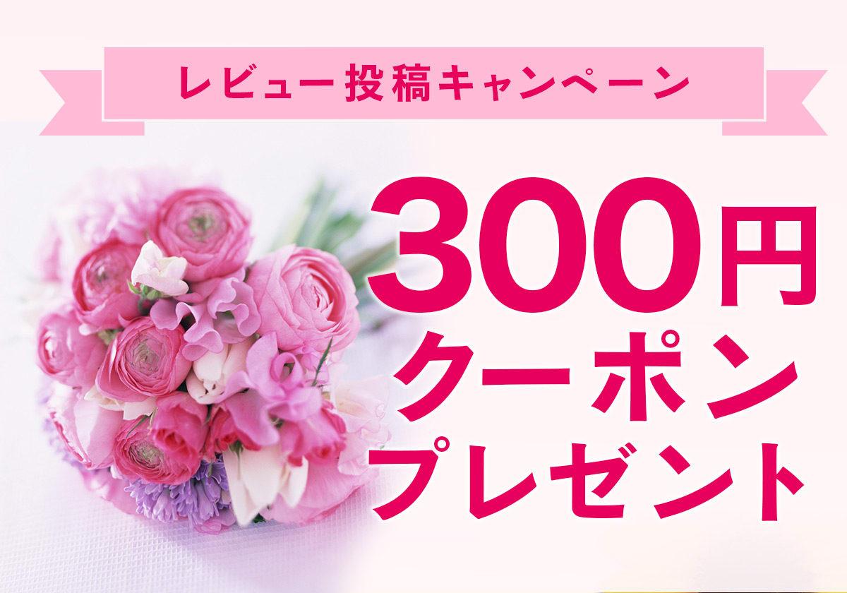 レビュー投稿キャンペーン!300円割引クーポンプレゼント!
