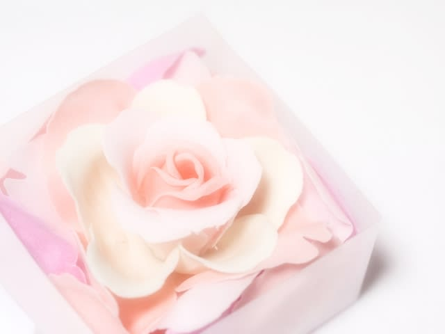 母の日にお花を模したシャボンフラワーをプレゼント!