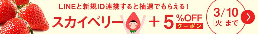 「LINE ID連携でいちごプレゼント」UN-5663