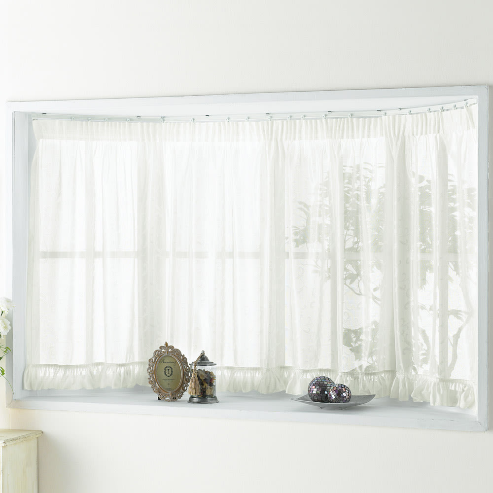 丈80cm 対応窓幅150~200cm (ウェーブロン(R)+(プラス)使用 出窓用カーテン)