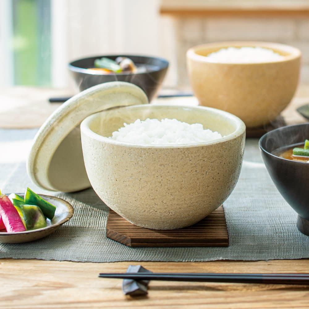 伊賀焼長谷園 陶器のおひつ陶珍 1合用