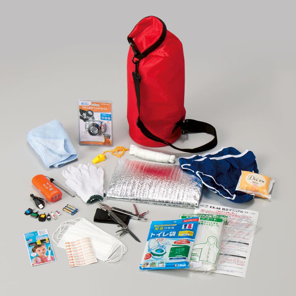 防災士監修 水害と震災に備えるマルチキャリーバッグ(防災セット)