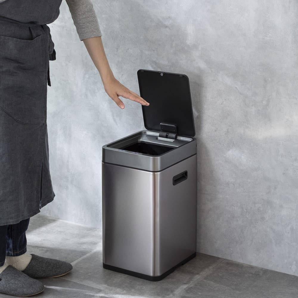 特典付き EKO ミラージュ 充電式センサービン スリム 容量20L ゴミ箱