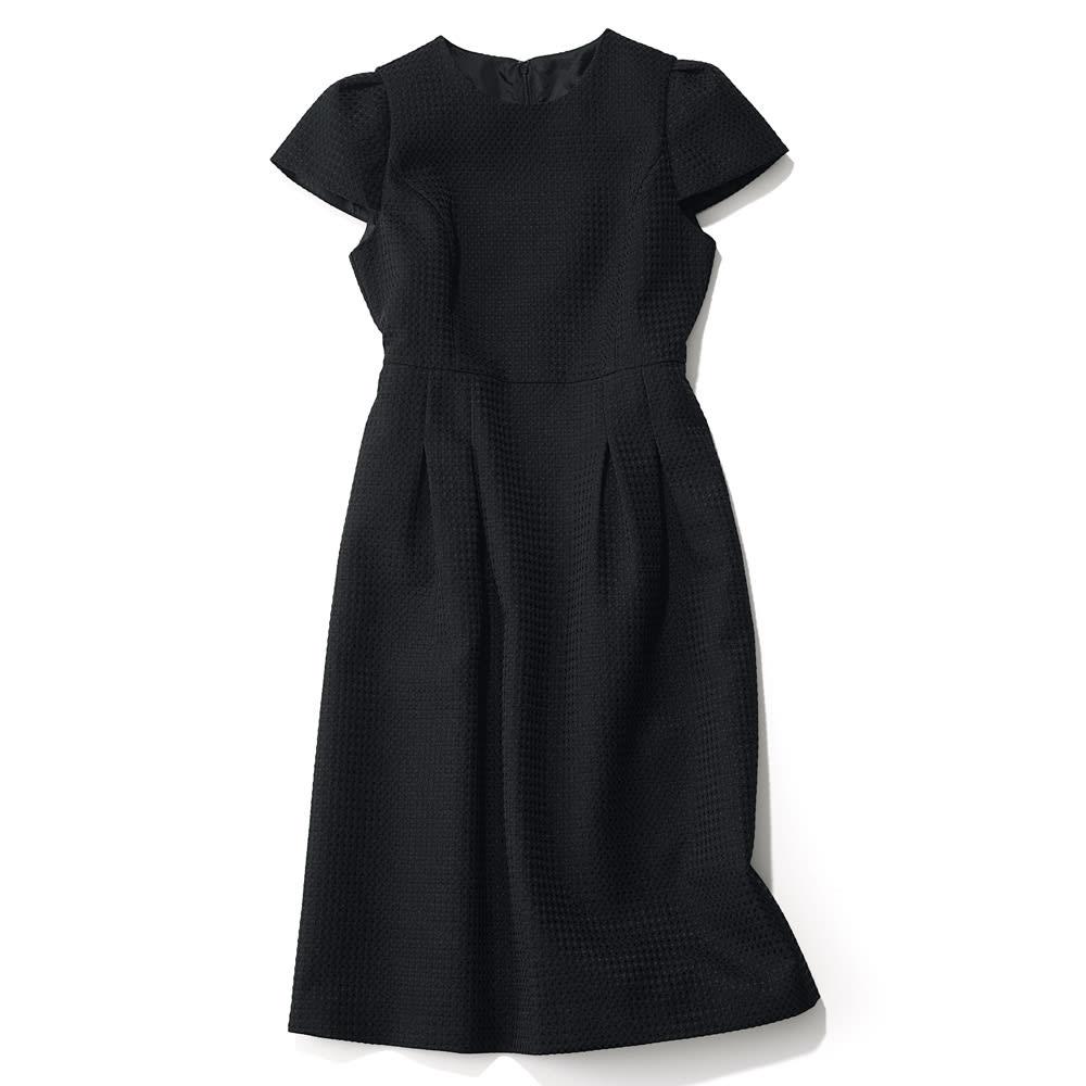 ドットジャカード リトルブラックドレス